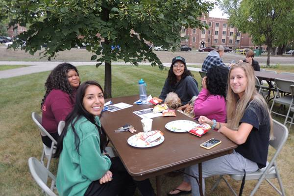social work students picnic